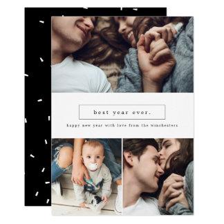 Bäst år kort för nytt år för Collage för någonsin 12,7 X 17,8 Cm Inbjudningskort
