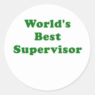 Bäst arbetsledare för världar runt klistermärke