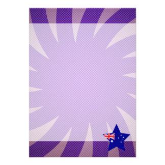 Bäst Australien flaggadesign 12,7 X 17,8 Cm Inbjudningskort