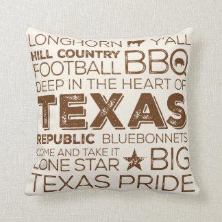 Bäst av den Texas dekorativ kudde - brunt