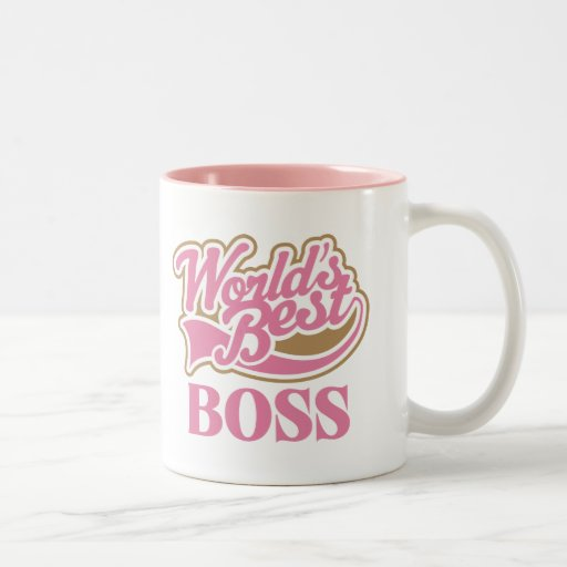 Bäst chef för gulliga rosa världar kaffe mugg