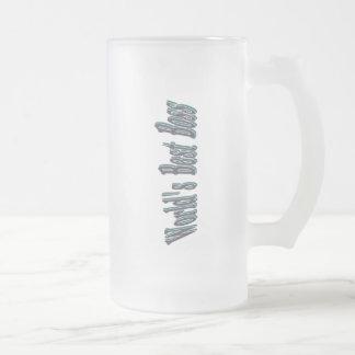 Bäst chef för världar frostad glas mugg