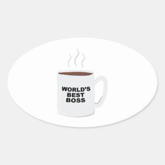 Bäst chef för världar ovalt klistermärke