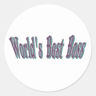 Bäst chef för världar runt klistermärke