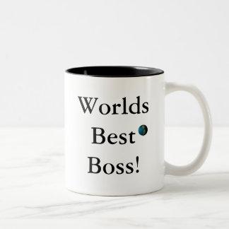 Bäst chef för världar! Två-Tonad mugg