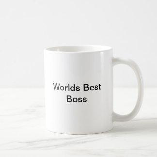 Bäst chef för världar vit mugg