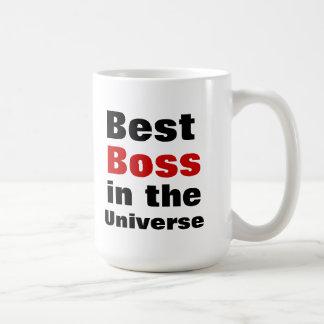 Bäst chef i universum vit mugg
