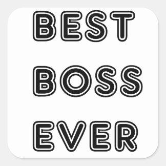 Bäst chef någonsin fyrkantigt klistermärke