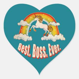 Bäst chef någonsin hjärtformat klistermärke