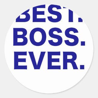Bäst chef någonsin runt klistermärke