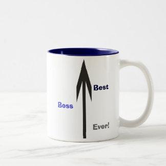 Bäst chef någonsin! Två-Tonad mugg