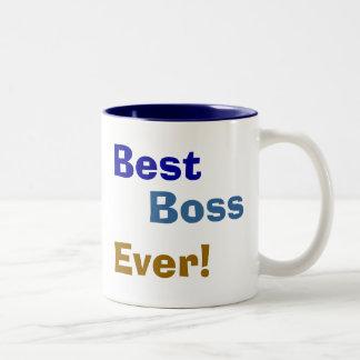 Bäst chef, någonsin! Två-Tonad mugg