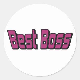 Bäst chef runt klistermärke