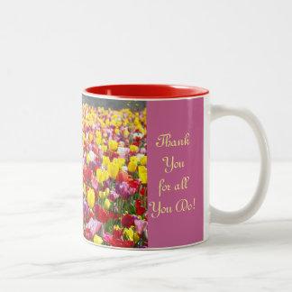 Bäst chefdam! kaffe kopparallt tack gör du Två-Tonad mugg