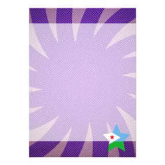 Bäst Djibouti flaggadesign 12,7 X 17,8 Cm Inbjudningskort