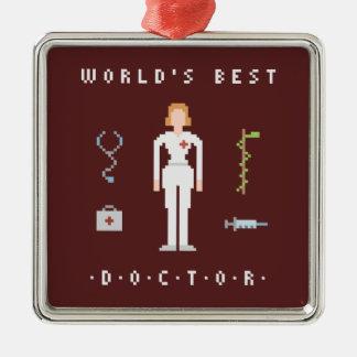 bäst doktor för stil 8Bits Julgransprydnad Metall