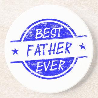 Bäst far någonsin Blue.png Glasunderlägg