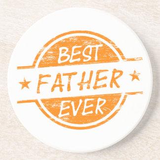Bäst far någonsin Orange.png Glasunderlägg