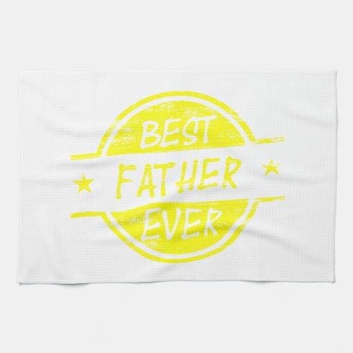 Bäst far någonsin Yellow.png Kökshandduk