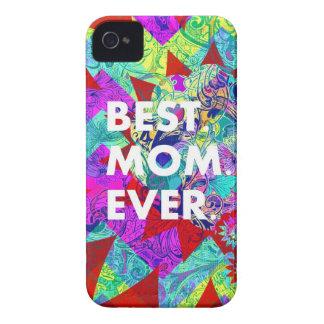 BÄST färgrika blom- mors daggåvor för MAMMA iPhone 4 Case-Mate Skal
