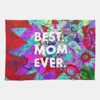 BÄST färgrika blom- mors daggåvor för MAMMA Kökshandduk