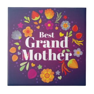Bäst farmor liten kakelplatta