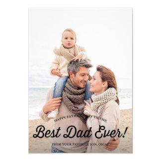 Bäst för Calligraphyfars dag för pappa | Retro 12,7 X 17,8 Cm Inbjudningskort