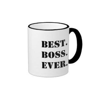 Bäst för chef anpassade någonsin ringer mugg