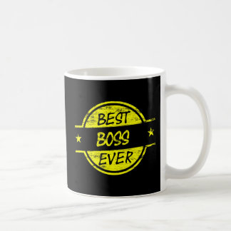Bäst för chef gult någonsin kaffe kopp