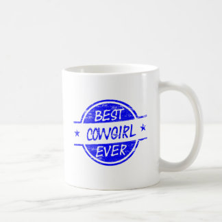 Bäst för Cowgirl blått någonsin Kaffemugg