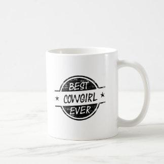Bäst för Cowgirl svart någonsin Kaffemugg