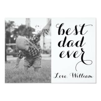 Bäst för fars daganpassningsbar för pappa någonsin 12,7 x 17,8 cm inbjudningskort