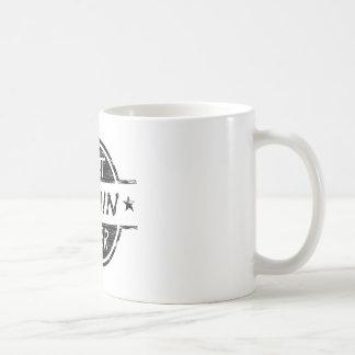 Bäst för kusin svart någonsin kaffemugg