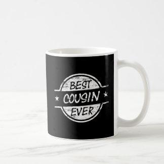 Bäst för kusin vit någonsin kaffemugg