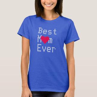 Bäst för mamma för mors dagfödelsedag någonsin t shirts
