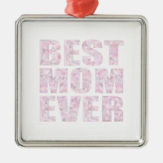 Bäst för mamma rosor någonsin - den låga Poly Julgransprydnad Metall