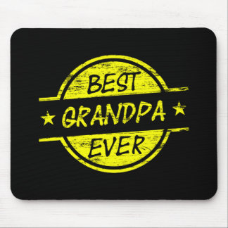Bäst för morfar gult någonsin musmatta