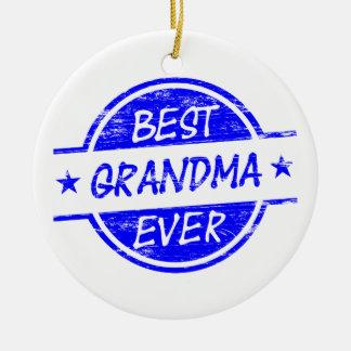 Bäst för mormor blått någonsin julgransprydnad keramik