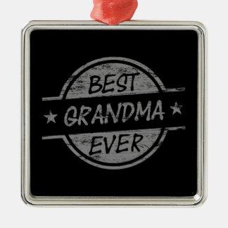 Bäst för mormor grått någonsin julgransprydnad metall