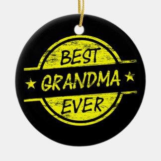 Bäst för mormor gult någonsin julgransprydnad keramik