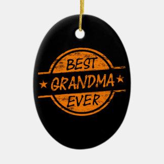 Bäst för mormor orange någonsin julgransprydnad keramik