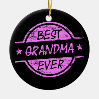 Bäst för mormor rosor någonsin julgransprydnad keramik