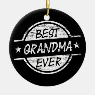 Bäst för mormor vit någonsin julgransprydnad keramik