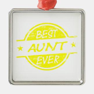 Bäst för moster gult någonsin julgransprydnad metall