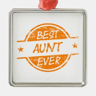 Bäst för moster orange någonsin julgransprydnad metall