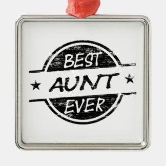 Bäst för moster svart någonsin julgransprydnad metall