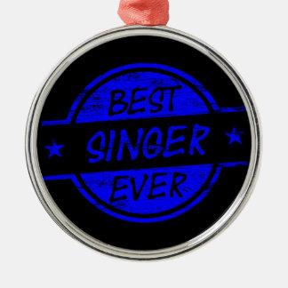 Bäst för sångare blått någonsin julgransprydnad metall