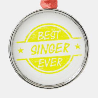 Bäst för sångare gult någonsin julgransprydnad metall