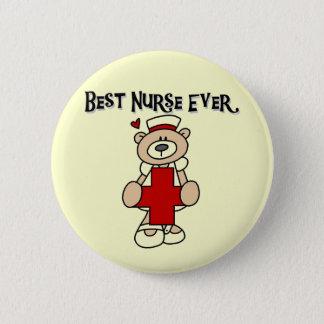 Bäst för sjuksköterska T-tröja och gåvor någonsin Standard Knapp Rund 5.7 Cm