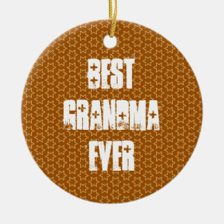Bäst för stjärnamönster för MORMOR någonsin guld- Julgransprydnad Keramik